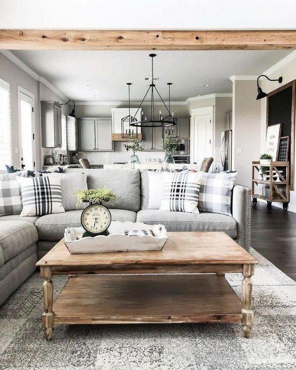 44 Choosing Good Rustic Farmhouse Living Room Joanna Gaines Decorating Ideas Farm House Living Room Farmhouse Decor Living Room Modern Farmhouse Living Room #rustic #gray #living #room