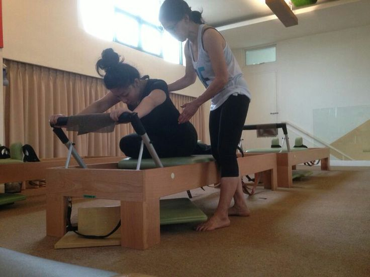 Private class on reformer! Pilates on reformer is so addictive!