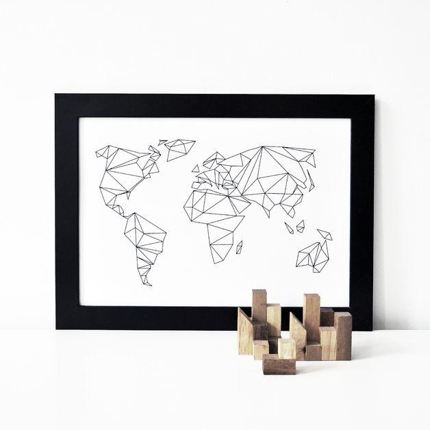 Digitaldruck - RESERVIERT A4 Print Geometrical World - ein Designerstück von nahili bei DaWanda