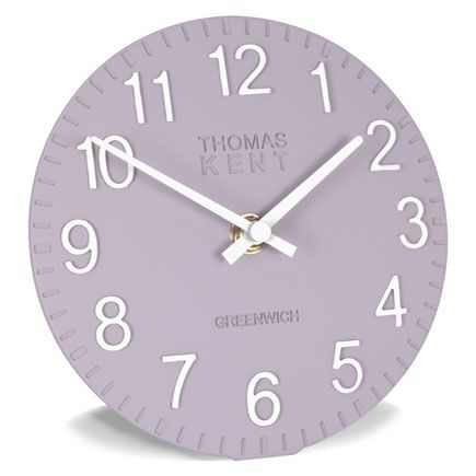 damson clock by Thomas Kent, purple clock, damson purple, cotswold damson, Thomas Kent, Thomas Kent clock, Thomas Kent clocks, mantel clocks, 6 inches, 6 inch, purple table top clock, purple clocks, modern purple clock clock, clock, clocks