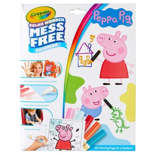 Crayola Colour Wonder Pipsa Possu värityskirja | Peppa pig ...