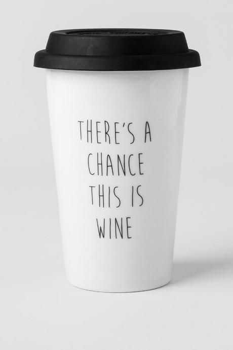 """There's+a+chance+this+is+wine""<br+/> <br+/> This+funny+ceramic+travel+mug+will+brighten+up+your+morning+while+keeping+your+coffee+hot!+Give+this+mug+to+one+of+your+girlfriends+as+a+cute+&+humorous+gift. <br+/> <br+/> -+Double+walled+to+keep+drinks+hot<br+/> -+8+oz.+ceramic+cup+with+silicon+lid<br+/> -+Dishwasher+and+microwave+safe<br+/> -+Imported<br+/>"