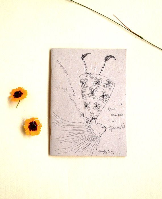 upside downOOAK hand drawn recycled paper light di ArtisticEnigmas, €18.00