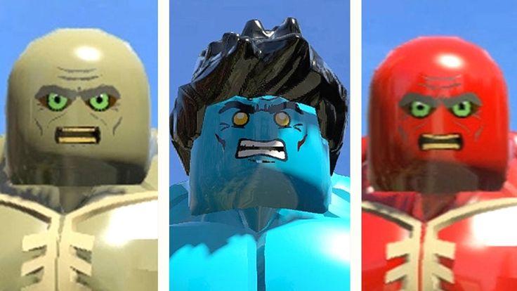 ABOMINATION vs BLUE HULK (TRANSFORMATION) vs RED ABOMINATION (LEGO MARVE...