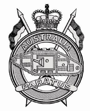 1st Armoured Regiment.