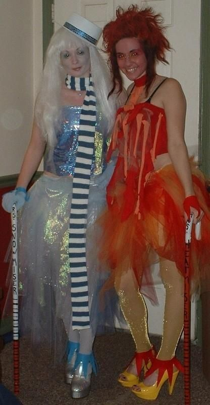 hest+myser+costume | Mrs. Snow Miser and Mrs. Heat Miser. | Costumes & Historical Clothing