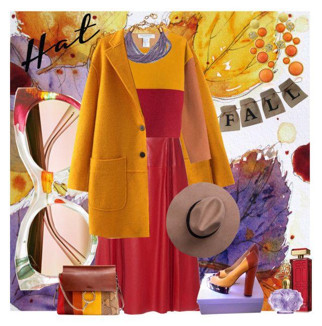 """Hat"" by fashion-mariquita-camy ❤ liked on Polyvore featuring Kenneth Jay Lane, Gucci, Philosophy di Lorenzo Serafini, Elliott Chandler, Elizabeth Arden, Rachel Zoe, Anna Sui and Chloé"