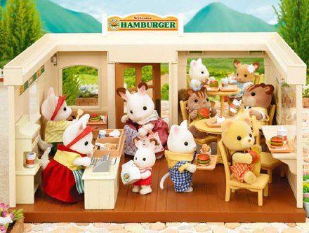 Hamburger restaurant 90s toys pinterest restaurant for Sylvanian families cuisine