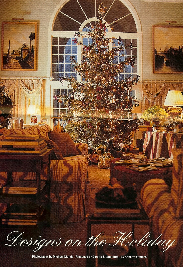 Beautiful Shaped Christmas Tree. Colonial Homes Magazine, Dec. 1994. Home  Of Designer