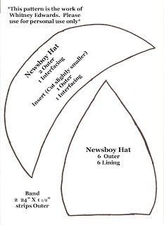 Newspaper boy hat sewing pattern / tutorial