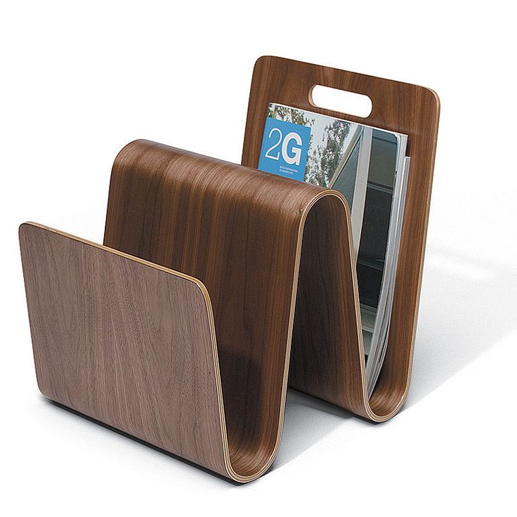 top3 by design - Offi - magazine stand - walnut. One of our favourite pieces from Eric Pfieffer. :)