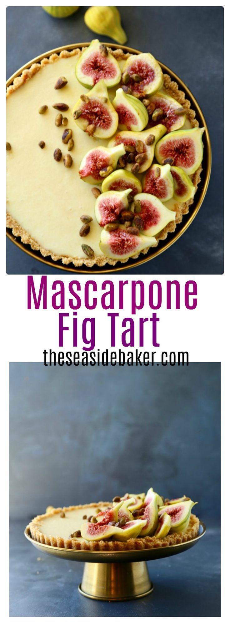 Mascarpone Fig Tart - dessert by @TheSeasideBaker