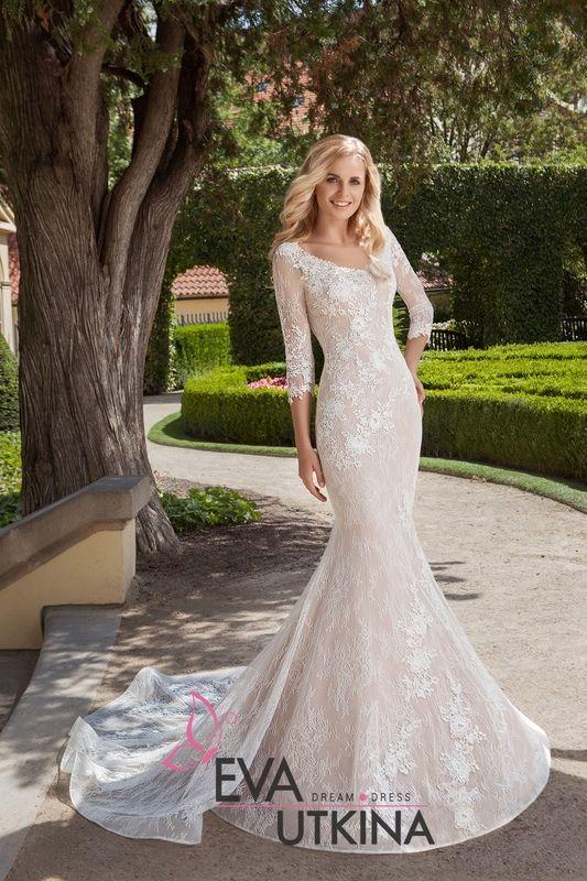 8633f8129f1 Верджиния свадебное платье рыбка с рукавами