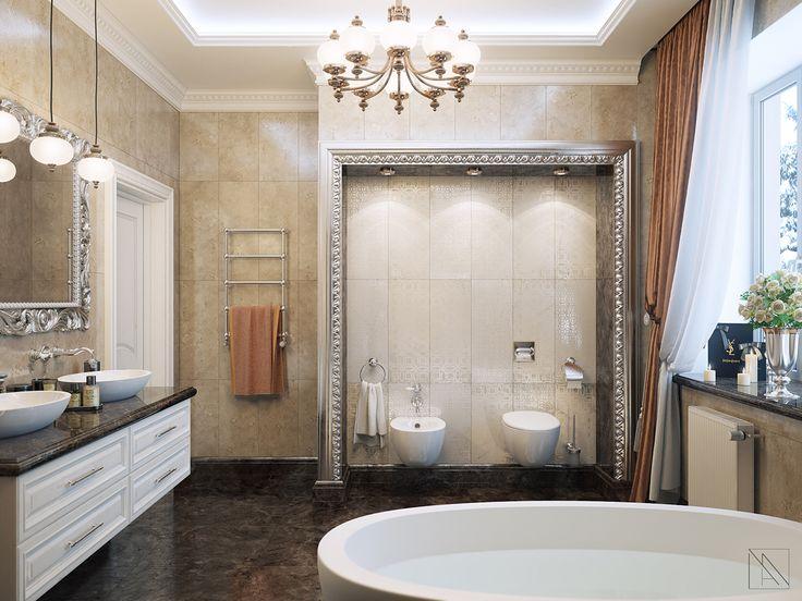 Ванная комната в стиле неоклассика | The bathroom in neoclassic style Дизайн идеи идеи ванной | Desidn ideas bathroom ideas | interior интерьер | кдассика classic | мрамор золото серебро зеркало премиум-класс marble gold silver mirror premium class luxury