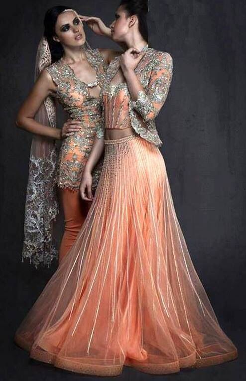 Gorgeous peach dresses