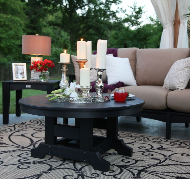 Dress Up Your Kloter Farms Outdoor Poly Furniture. How Gorgeous Does This  Black Poly Conversation