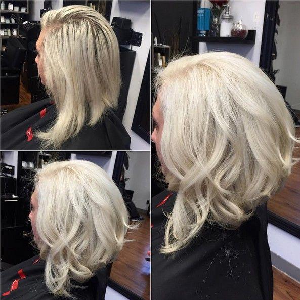 Short curly angled bob hairstyles
