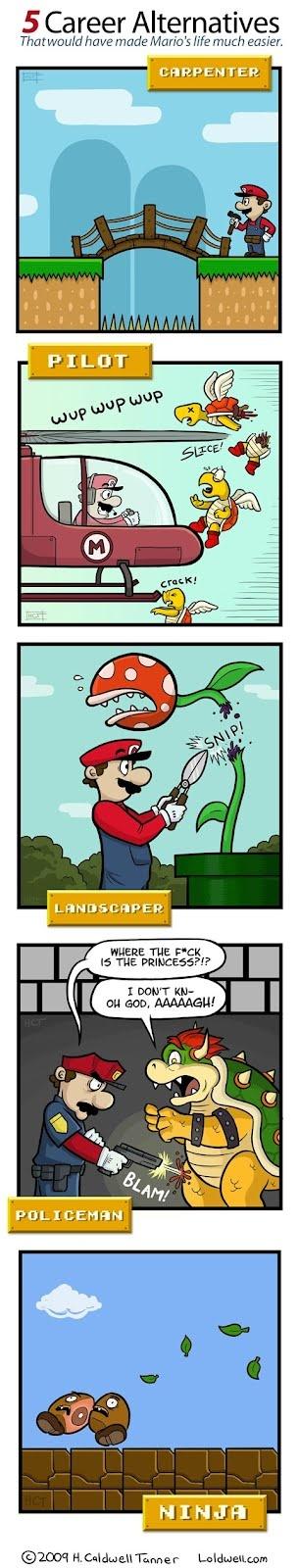 Mario career alternativesMario Job, Funny Image, Funny Pics, Funny Pictures, Alternative Career, Funny Stuff, Funny Photos, Super Mario, Career Alternative