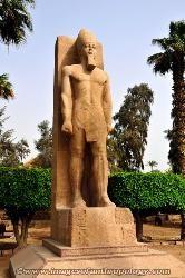 Statue of a pharaoh, Memphis, Egypt