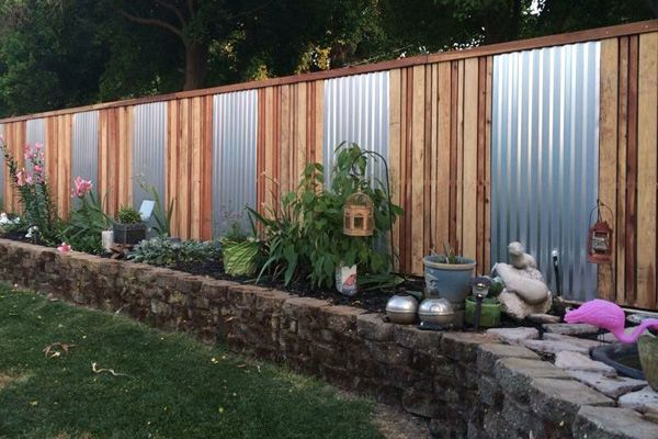17 Best Ideas About Corrugated Metal Fence On Pinterest