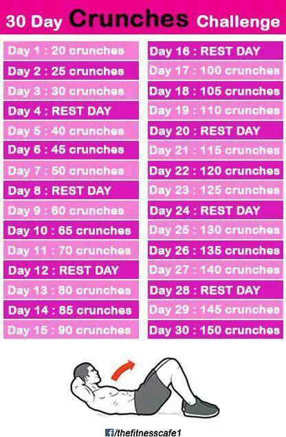 30 Dau Crunches Challenge