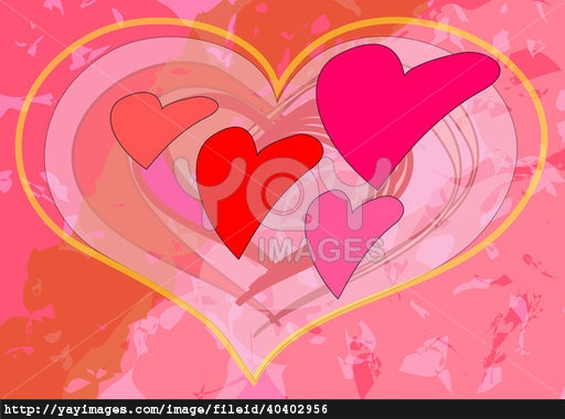 Large and small hearts