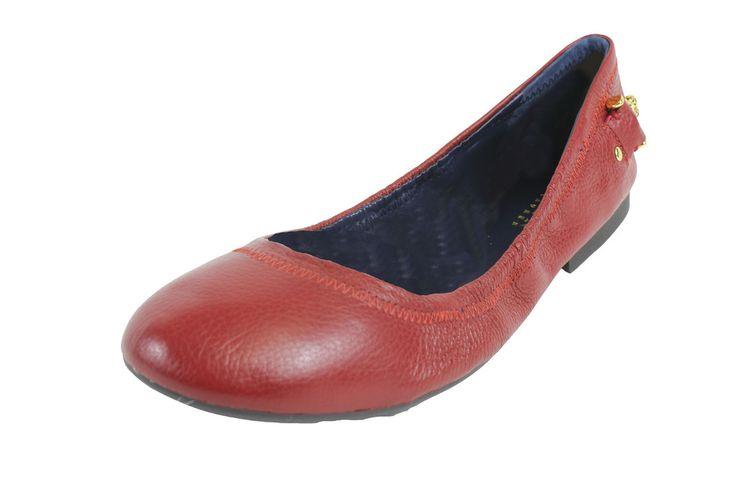 Ralph Lauren Barb Red Flats