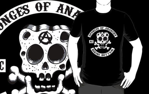 Sponges Of Anarchy T-Shirt Get yours here: http://tshirtonomy.com/go/sponges-of-anarchy