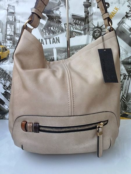 Miękka+torba,+worek,+skóra+-+beżowa!+w+Viqessa++na+DaWanda.com