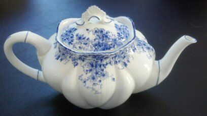 Shelley+Dainty+Blue+Teapot++Fine+Bone+English+by+WeathervaneHill,+$450.00