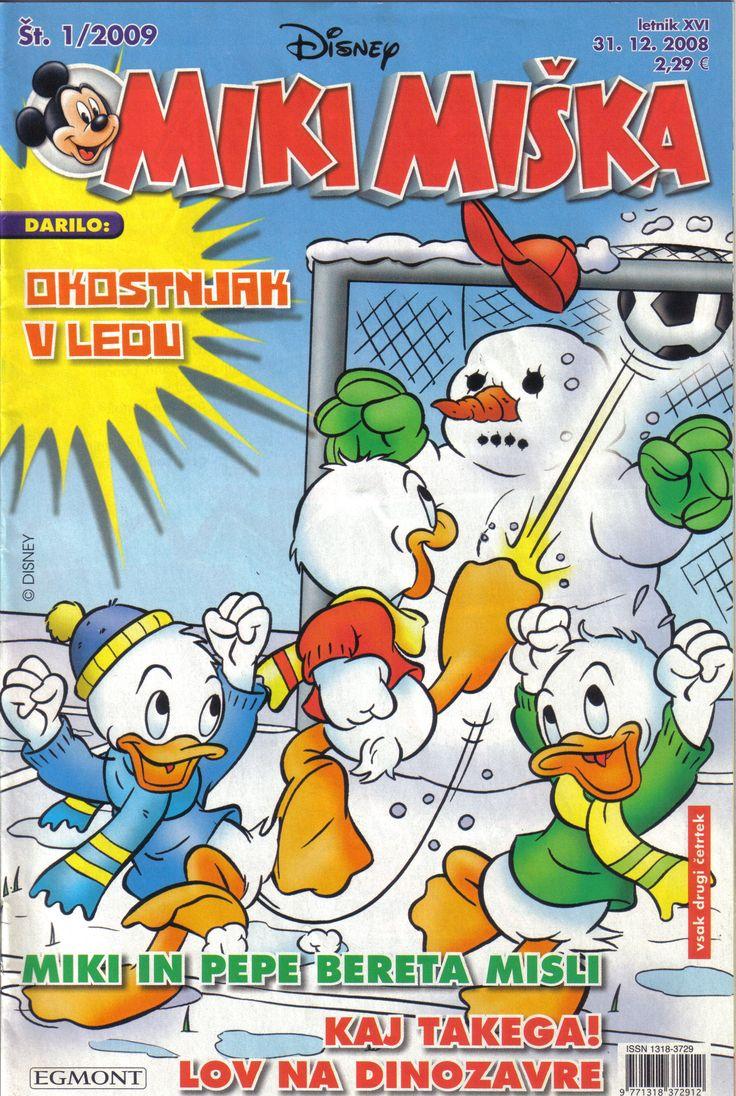 Slovenia - Miki Mishka (Slovenia) Scanned image of comic book (© Disney) cover
