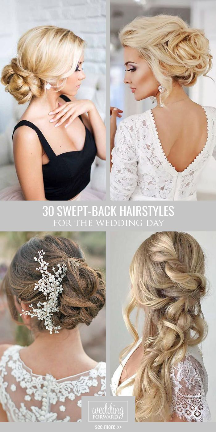 Killer Swept-Back Wedding Hairstyles ❤ If you are not sure which hairstyle to…                                                                                                                                                                                 More
