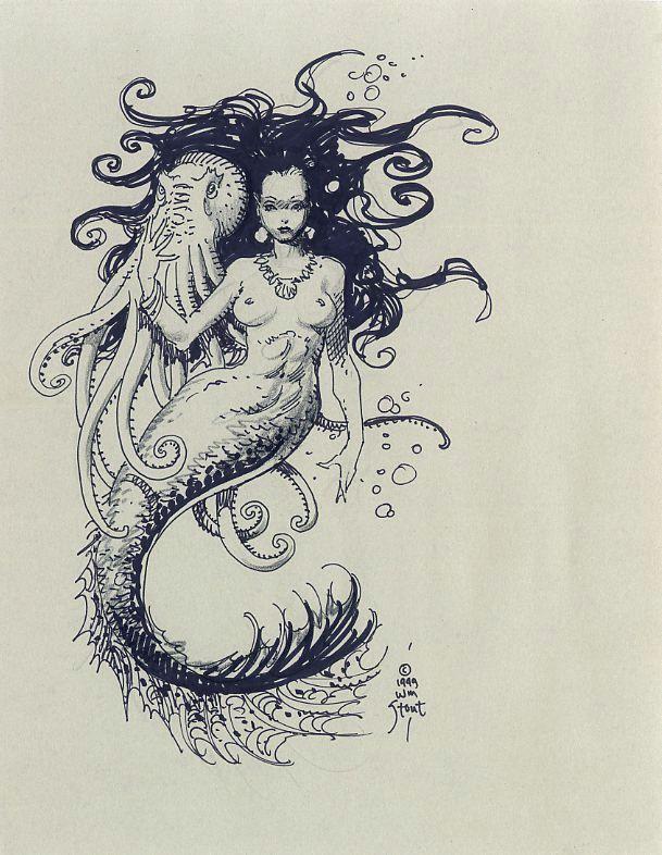 William Stout: Mermaid Comic Art