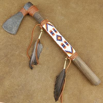 Native American Warrior Tomahawk - Plains Indian Bead