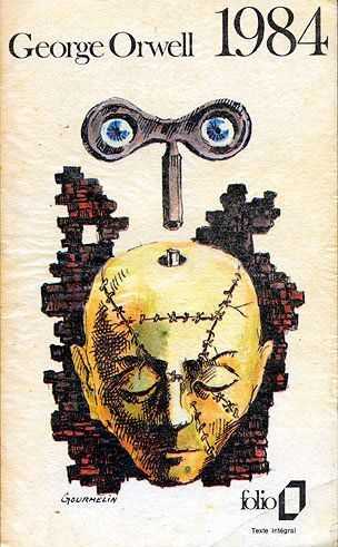 french edition of 1984, cover art by jean gourmelin