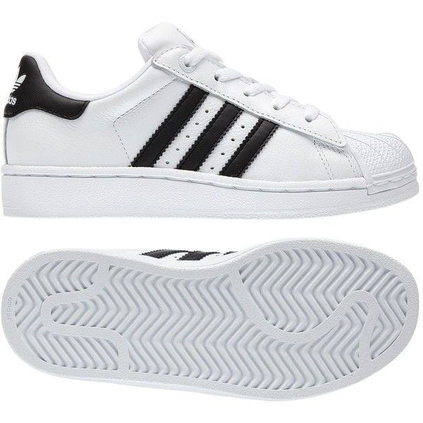 Adidas Superstar 2 Shoes ($62) ❤ liked on Polyvore featuring shoes, sneakers, adidas, white and fillers