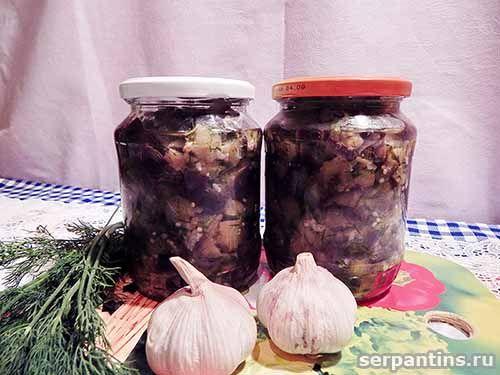 Маринованные баклажаны как грибы, вкусная заготовка на зиму