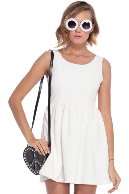 ROMWE | Cut-out Heart White Dress, The Latest Street Fashion #RomwePartyDress