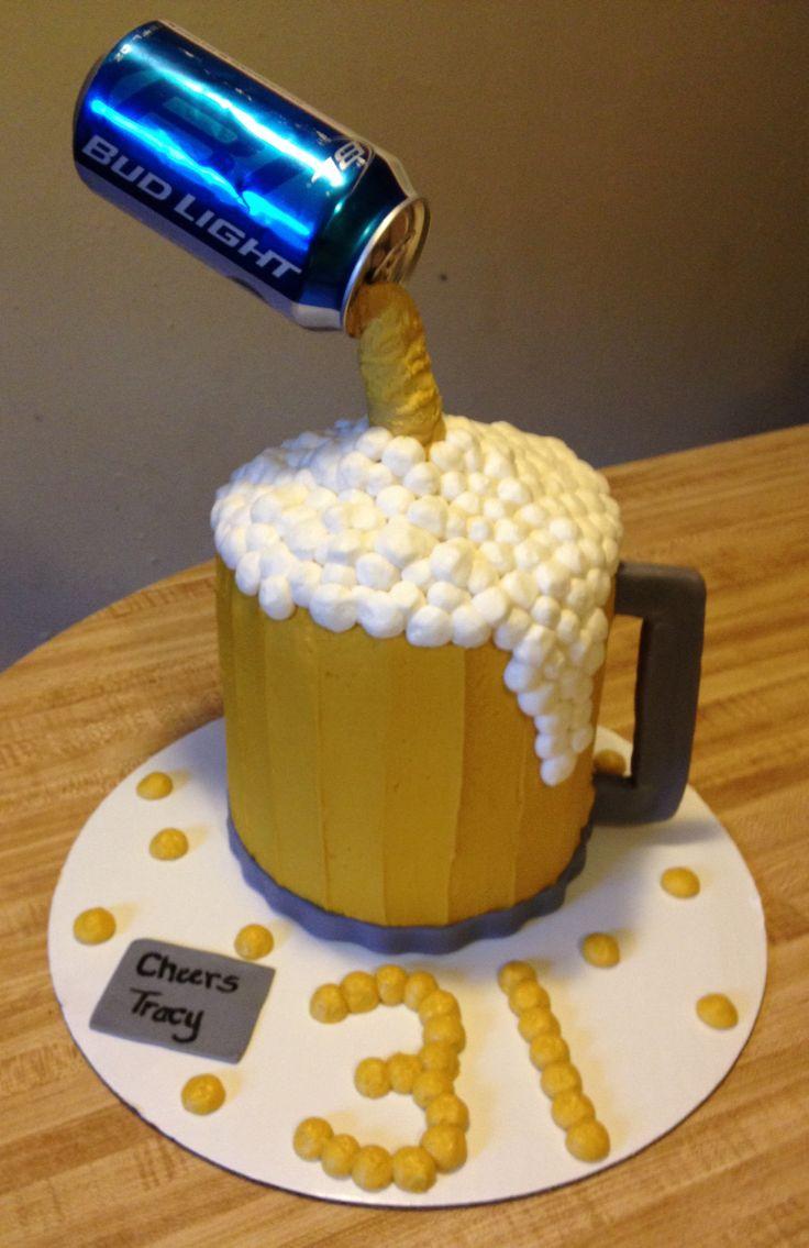Beer Glass Cake Design : Bud Light beer mug cake Home Decor / Recipes Pinterest ...