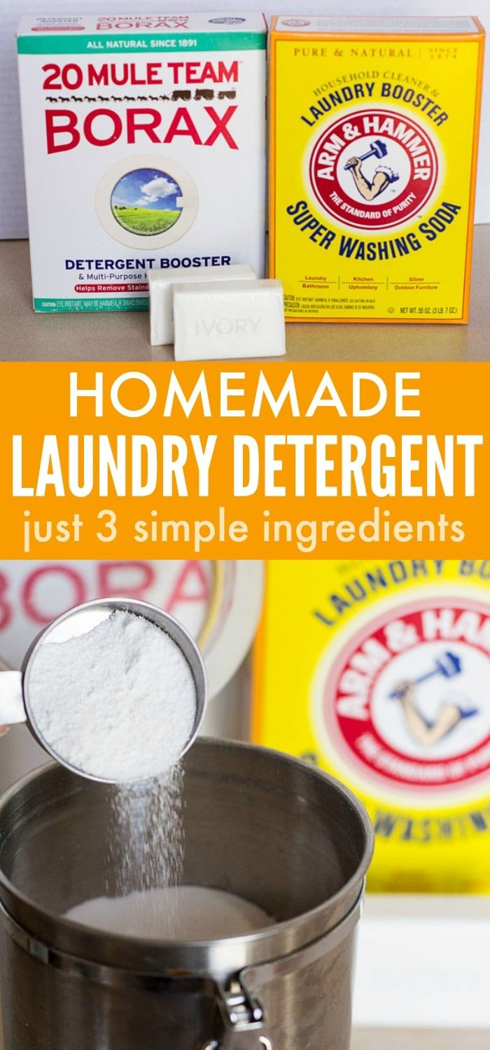 3 Ingredient Homemade Laundry Detergent Powder Homemade Laundry