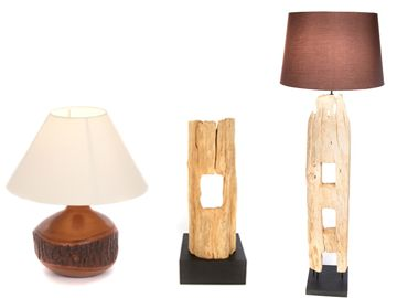 Our collection of wood lamps certainly have the 'wow' factor! Our reclaimed range is simple, bold and stylish, whilst our beautiful mango wood lamps add a 'natural' dimension to any living space. Their neutral tones and fabulous textures blend perfectly with any colour scheme to create a wonderfully 'earthy' look and feel.