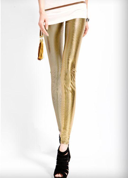 Yellow Metallic Disco Legging  $16.62