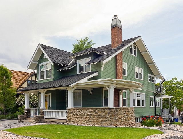 Renovated Green Bungalow House by Photo Dean, via Flickr
