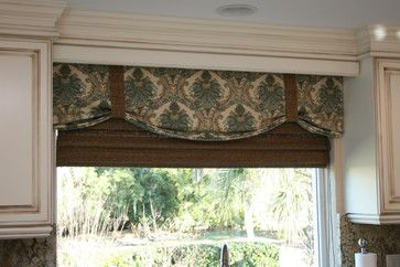 this is the idea I was trying to explain to you for your kitchen sink window. Although, I typically like my valances to be longer:)