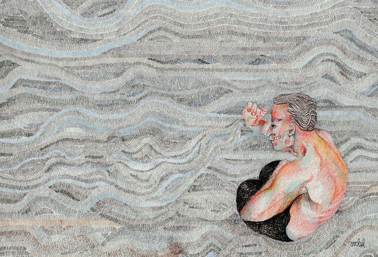 Illustration for Etgar Keret's feuilleton / BLUSZCZ magazine, by AROBAL