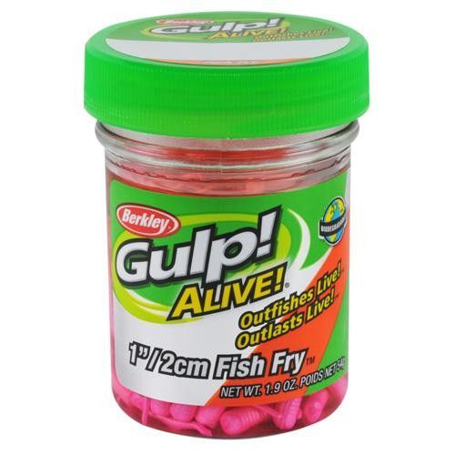 "Gulp! Alive! Fish Fry Soft Bait - 1"" Length, Pink"
