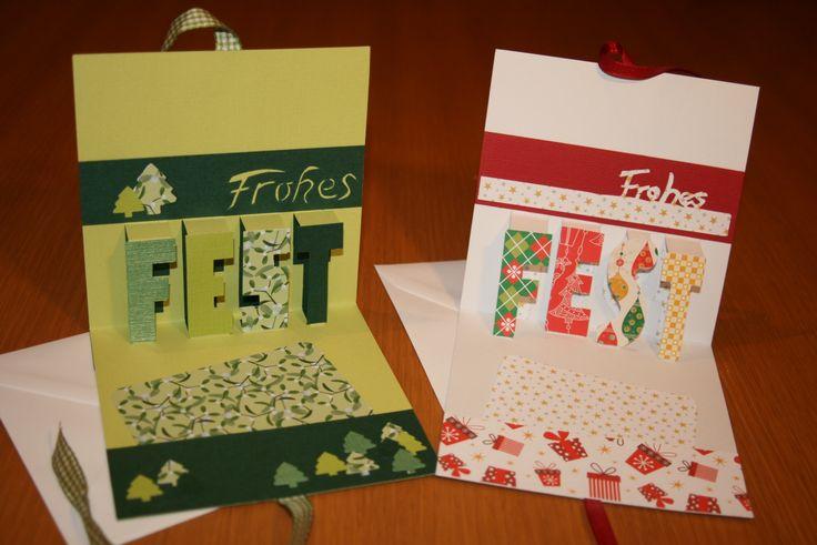 weihnachtliche pop up karten kartengr e pinterest. Black Bedroom Furniture Sets. Home Design Ideas
