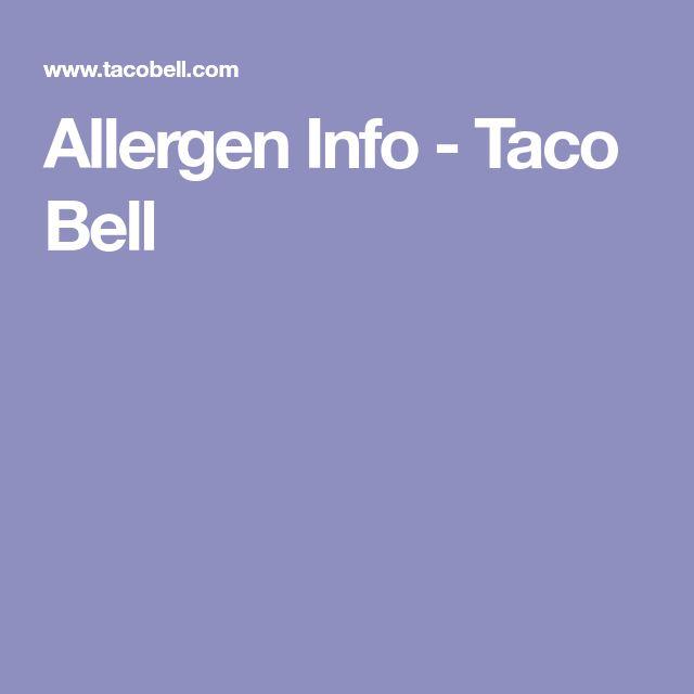 Allergen Info - Taco Bell