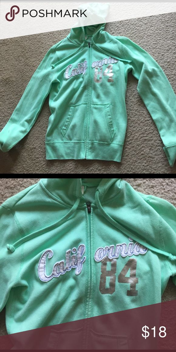 Zip up hoody Mint green zip up hoody from target. Never worn. Great condition! I'll take best offer! Mossimo Supply Co Tops Sweatshirts & Hoodies