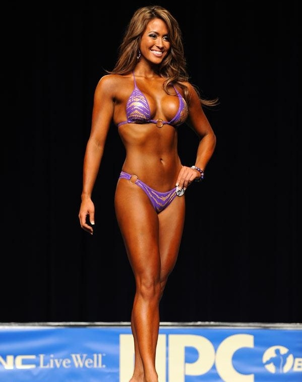 Nude female bodybuilder takes two loads and loves it 9